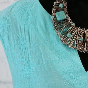 Turquoise Cypress Dress / Beach Cover-Up
